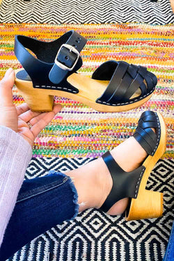 MIA Bety Black Clogs Terra Cotta