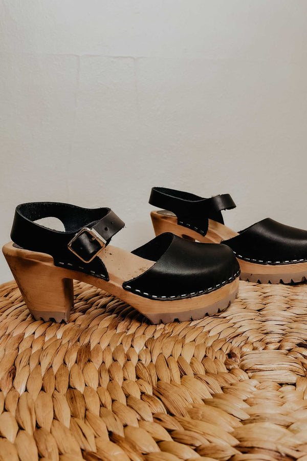 Terra Cotta MIA Abba Clogs- Black
