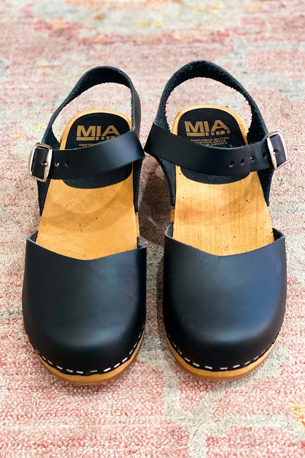 MIA Black Sofia Clogs Terra Cotta