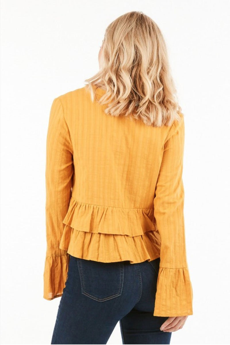 Mustard Yellow Tori Blouse Terra Cotta