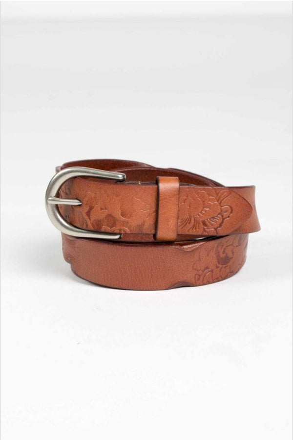 Genuine Leather Belt- Dark Brown Terra Cotta
