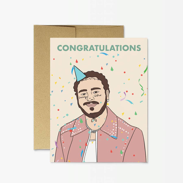 post malone birthday card terra cotta