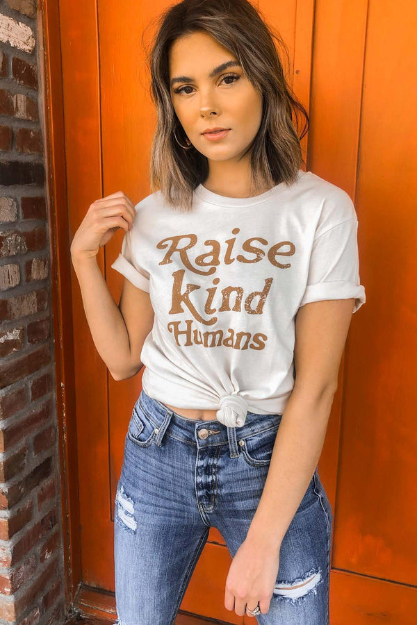 Raise Kind Humans Tee Terra Cotta