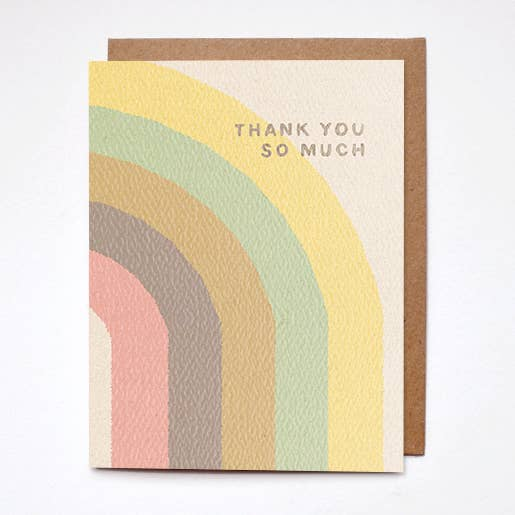 thank you so much greeting card