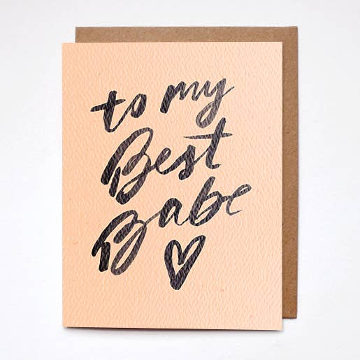terra cotta to my best babe card