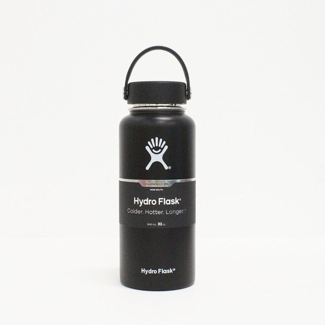 COLDEST Insulated Hydro-Flask Water Bottle - BLACK