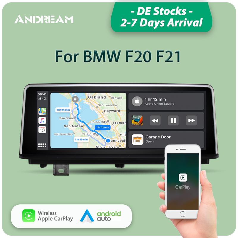 "Andream 8.8"" wireless Apple CarPlay + Android auto  multimedia Head unit for BMW Series 1 2 F20 F21 2011-2017"