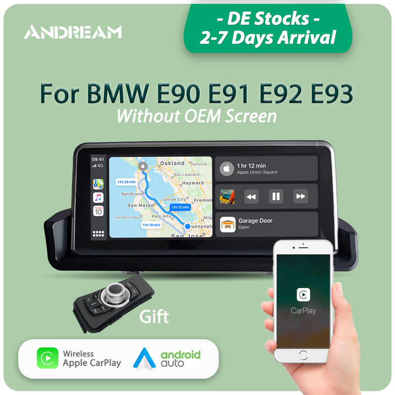 "Andream 8.8"" wireless Apple CarPlay + Android auto  multimedia Head unit for BMW 3 series E90 E91 E92 E93"