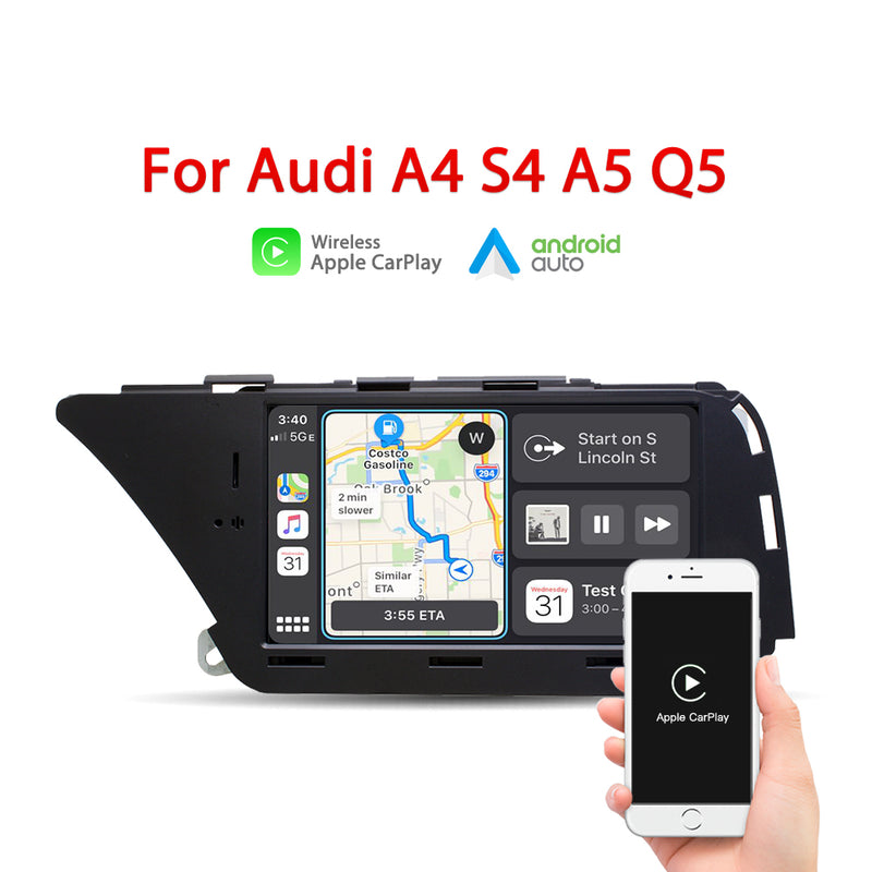 "Andream 7"" wireless Apple CarPlay + Android auto multimedia Head unit  for AUDI A4 S4 A5 Q5 (2008-2016 B8)"
