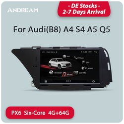 "Andream 7"" Android 9.0 PX6 six-core 4G+64G Car Multimedia for AUDI LHD A4 S4 A5 Q5 (2008-2016 B8) GPS navigation Head unit"