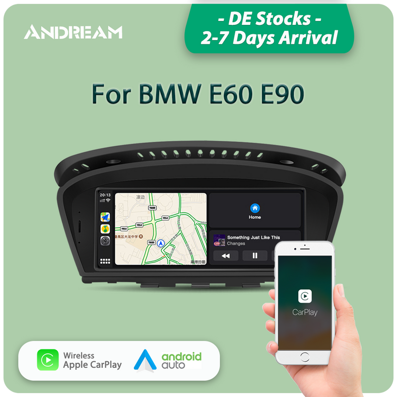"Andream 8.8"" wireless Apple CarPlay + Android auto  Head unit multimedia for BMW Series3 5 E60 E61 E63 E64 M5 E90 E91 E92 E93 M3"