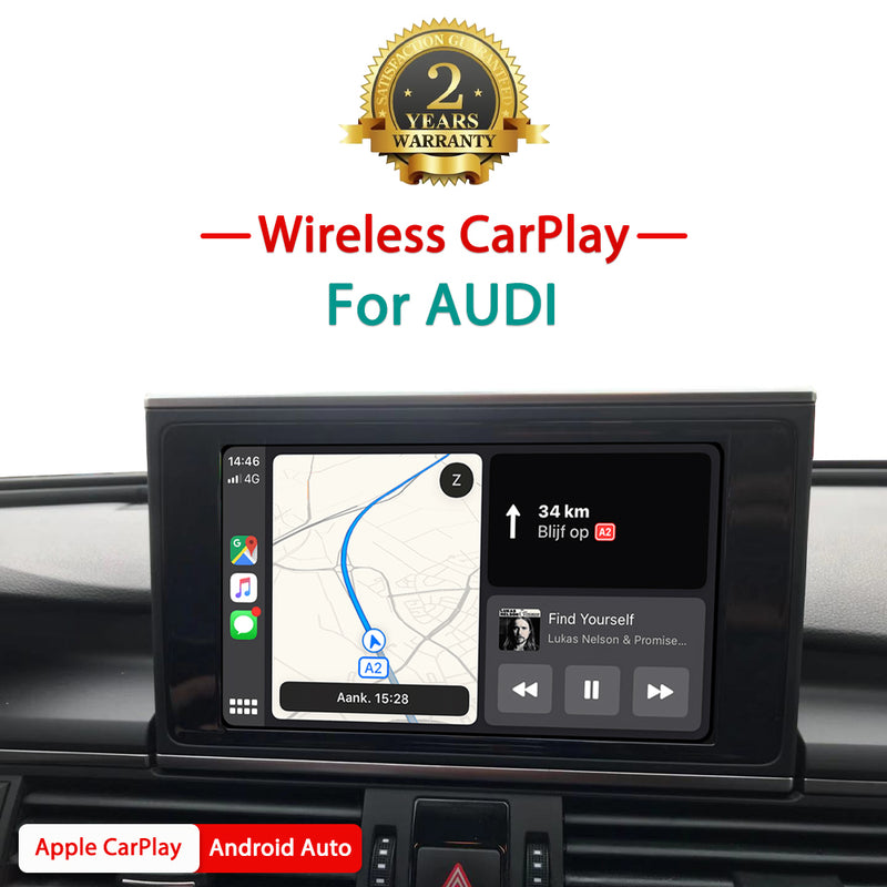 Andream Wireless Apple CarPlay and Android Auto Interface Smartbox For Audi Q3 Q5 Q7 A3 A4 A5 A6 A7 A8 S5 S7 with 3G/3G+/MIB MMI/ Symphony/Concert