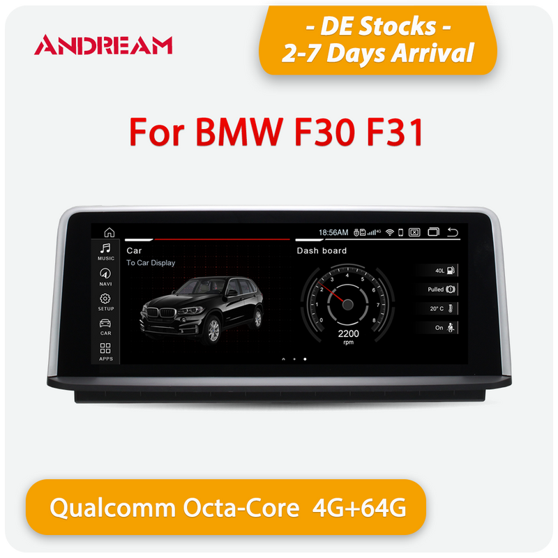 "Andream 10.25"" / 8.8"" Android 10.0 4G+64G Qualcomm 8-core built-in 4G-LTE IPS Car MultiMedia for BMW Series 3 F30 F31 F34 Series 4 F32 F33 F36"