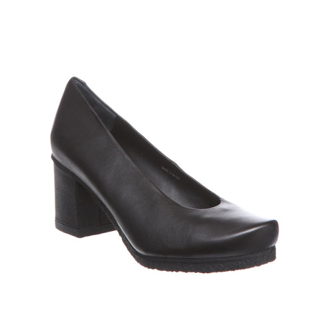 Audley Crispado Black Leather Heel