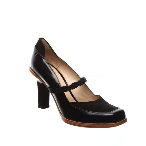 Audley Dev/Suede Black Pump