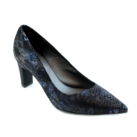 France Mode Ulix Asymmetric Pump Python Blue