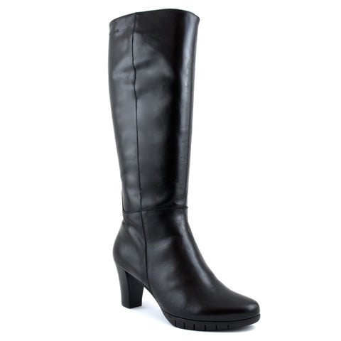 Wonders Tall Boot Mid-heel Cuba Black