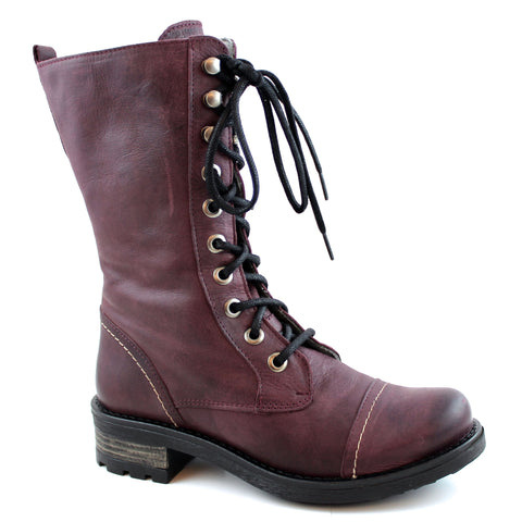 UID Infantry Lace up Boot Burgundy