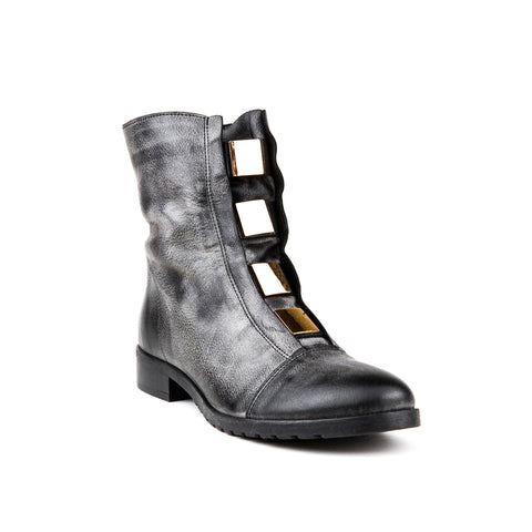 Ulmani 21744 Short Boot with Gold Details