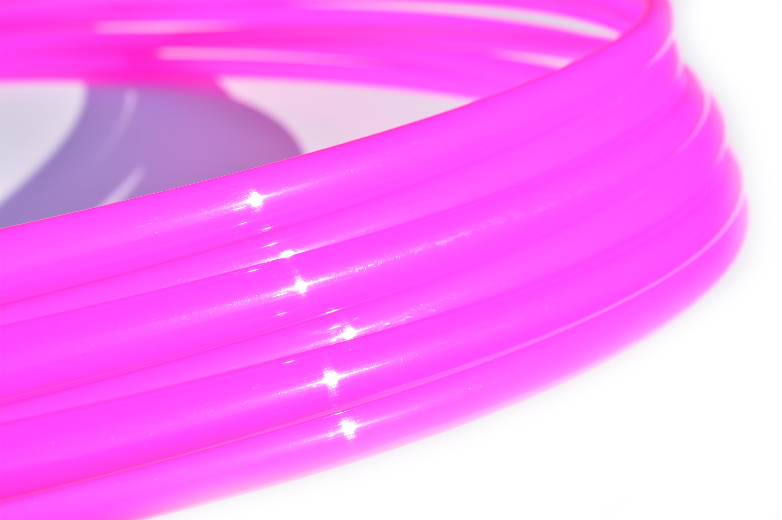 3/4 UV Fuchsia Pink Glass Polypro Hoops ~ Glossy Series