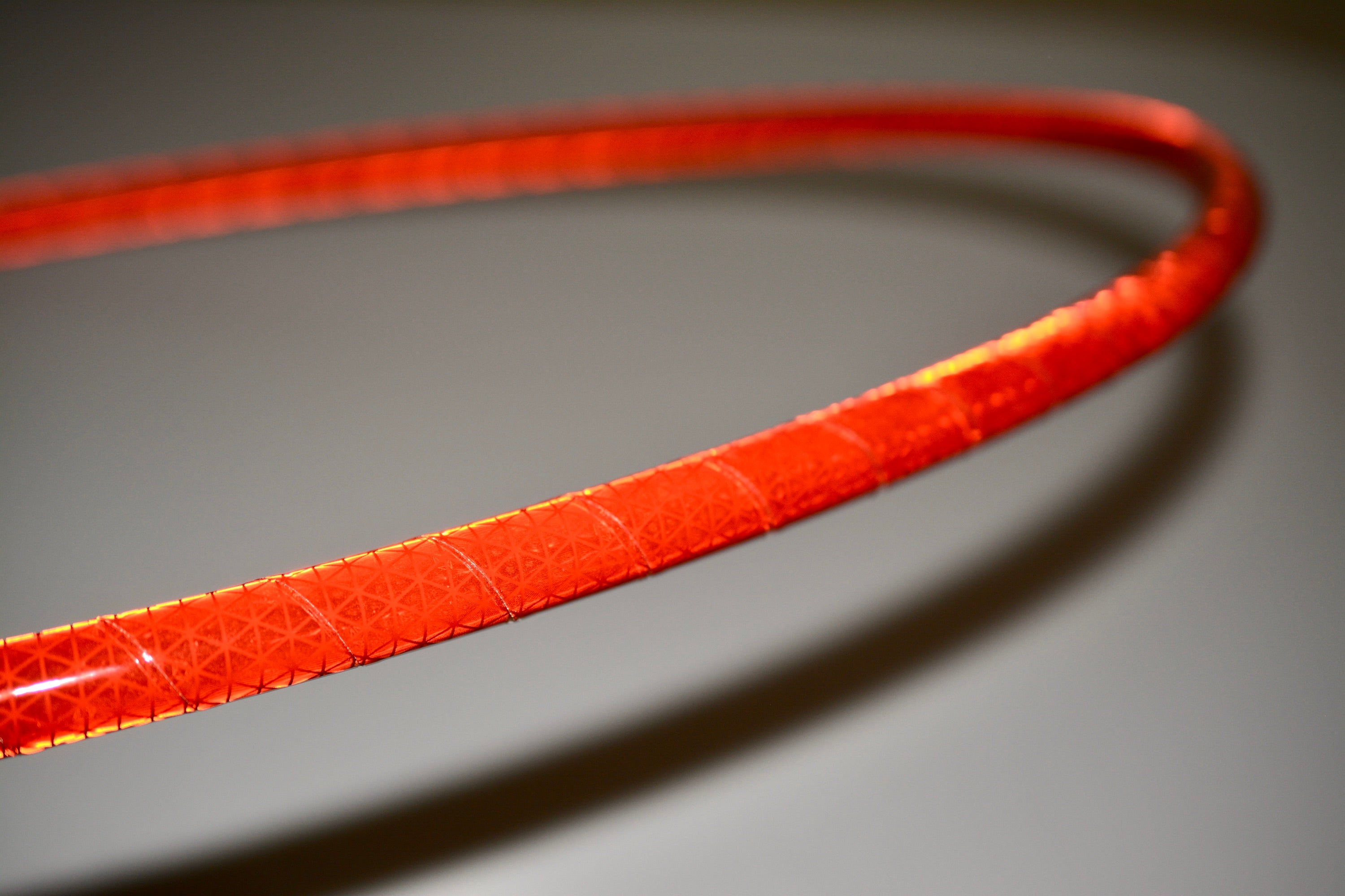 Red Reflective Taped Hoops
