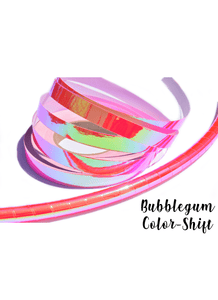 Nuclear Bubblegum Pink Color-Shift Performance Taped Hoops