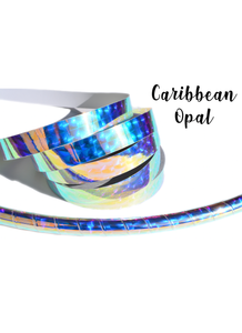 Holographic Caribbean Opal Performance Taped Hoops