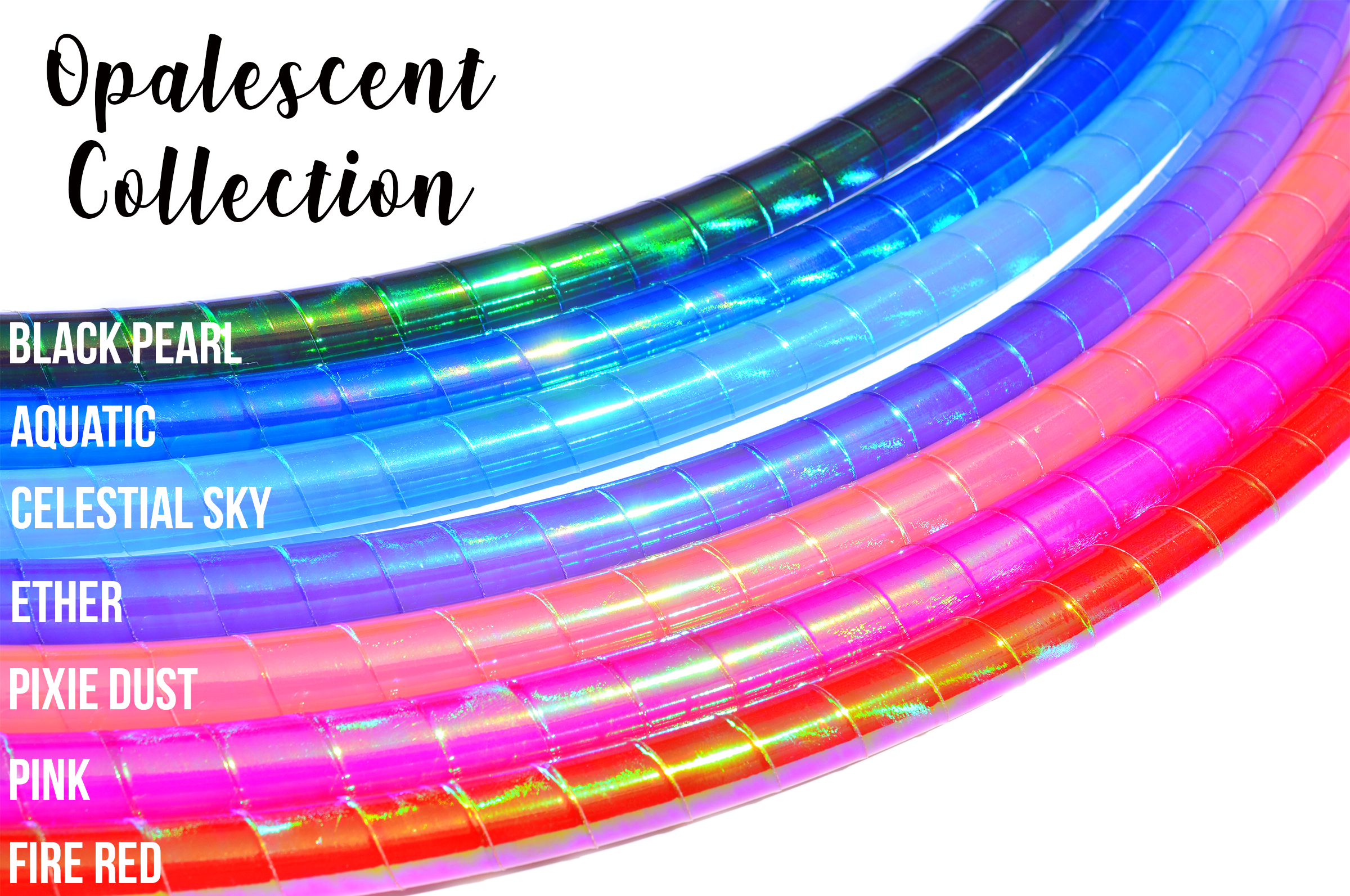 Pixie Dust Opalescent Color-Shift Reflective Taped Hoops
