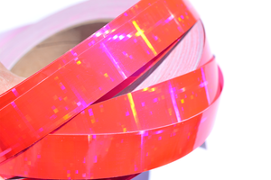 Holographic Pink Crossfire Performance Taped Hoops