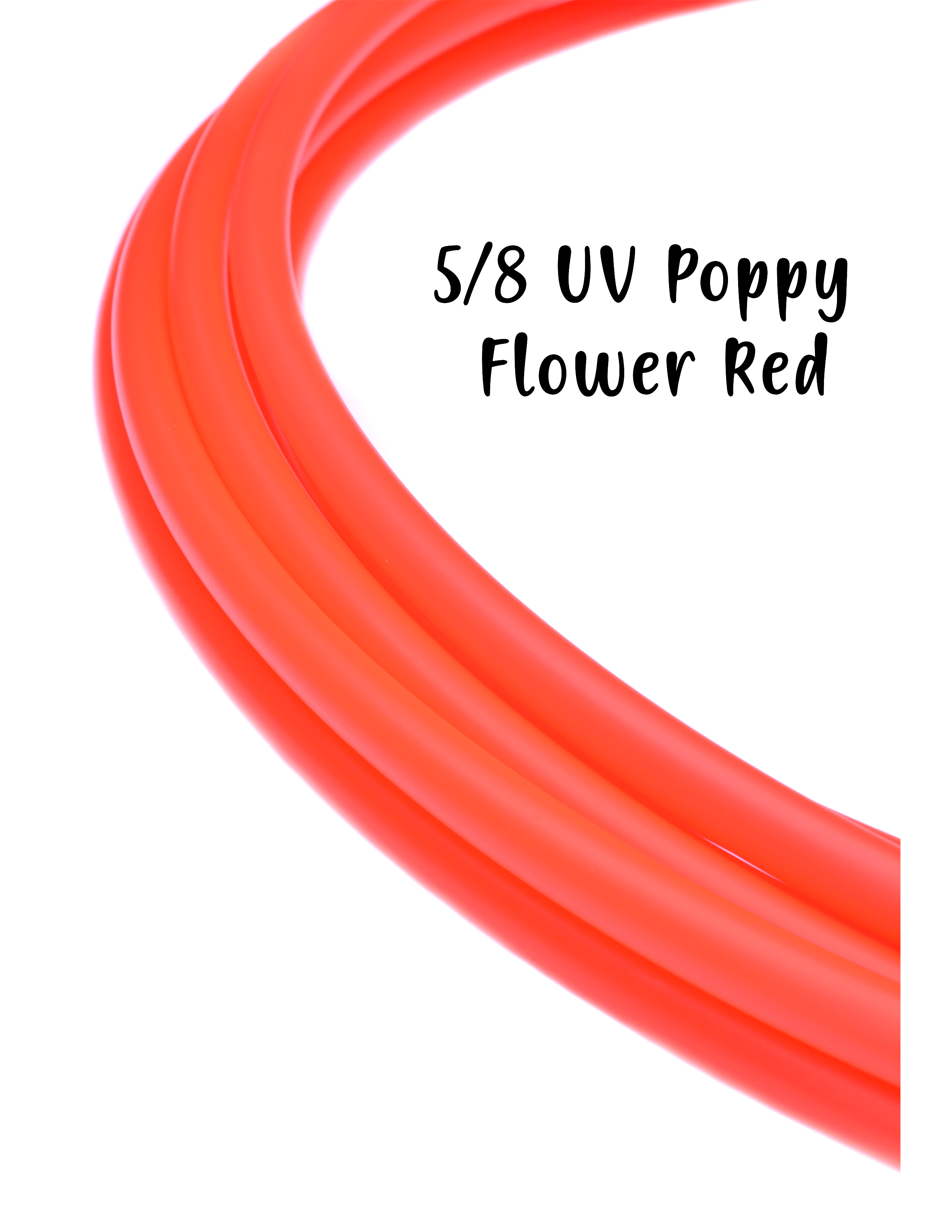 5/8 UV Poppy Flower Red Polypro Hoops