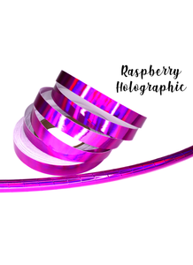Raspberry Rainbow Holographic Taped Performance Hoops