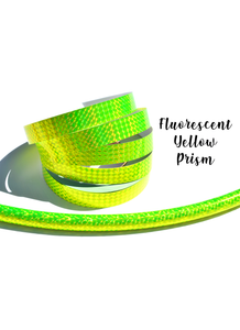 Fluorescent Yellow Prism Taped Performance Hoops