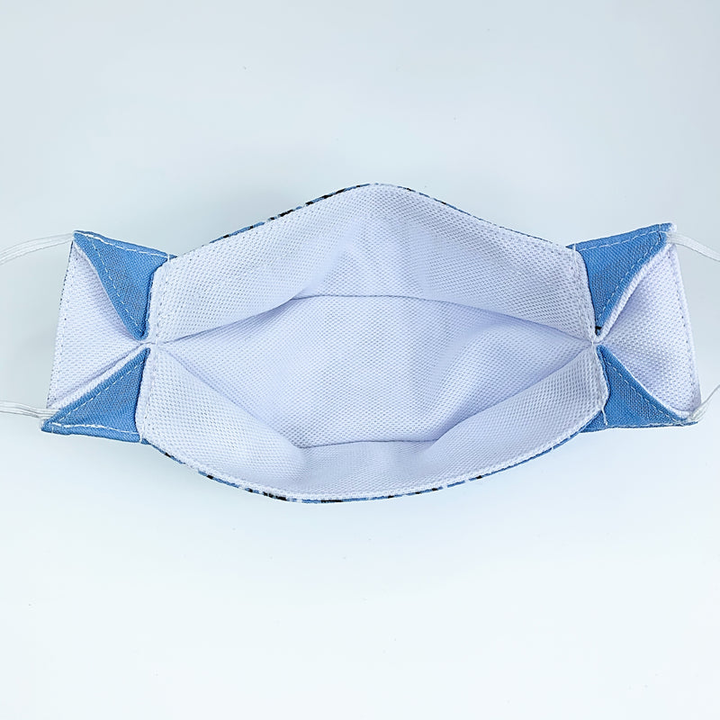 """SKY BLUE"" Bandana kids mask"
