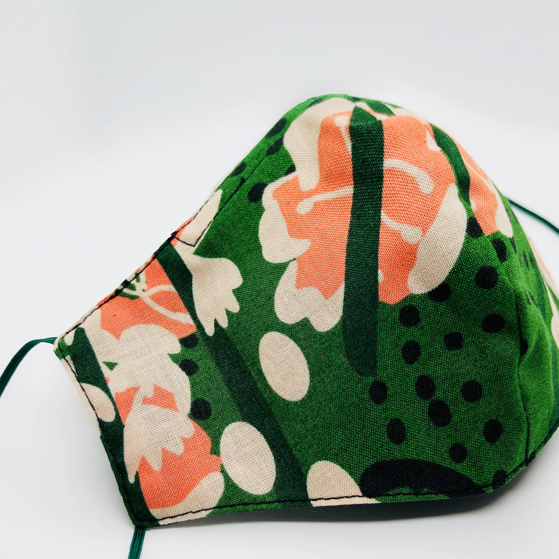 Spring print antimicrobial Mask