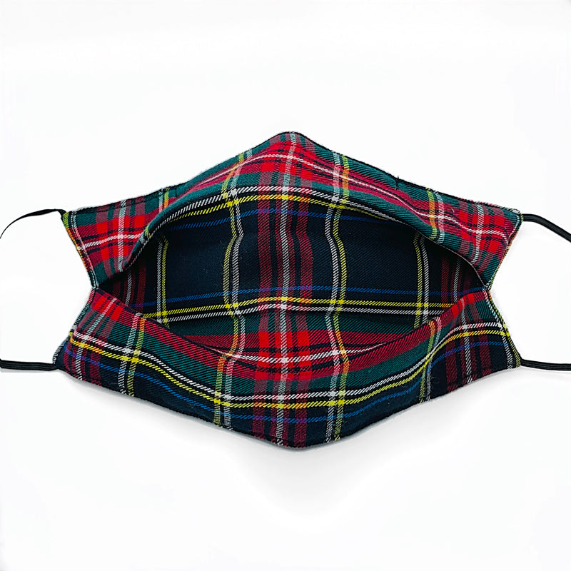 """PLAID RECTANGLE"" Red/ green Mask"