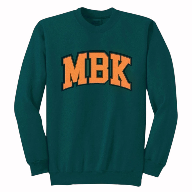 "THE ""MBK"" FOREST GREEN CREWNECK"