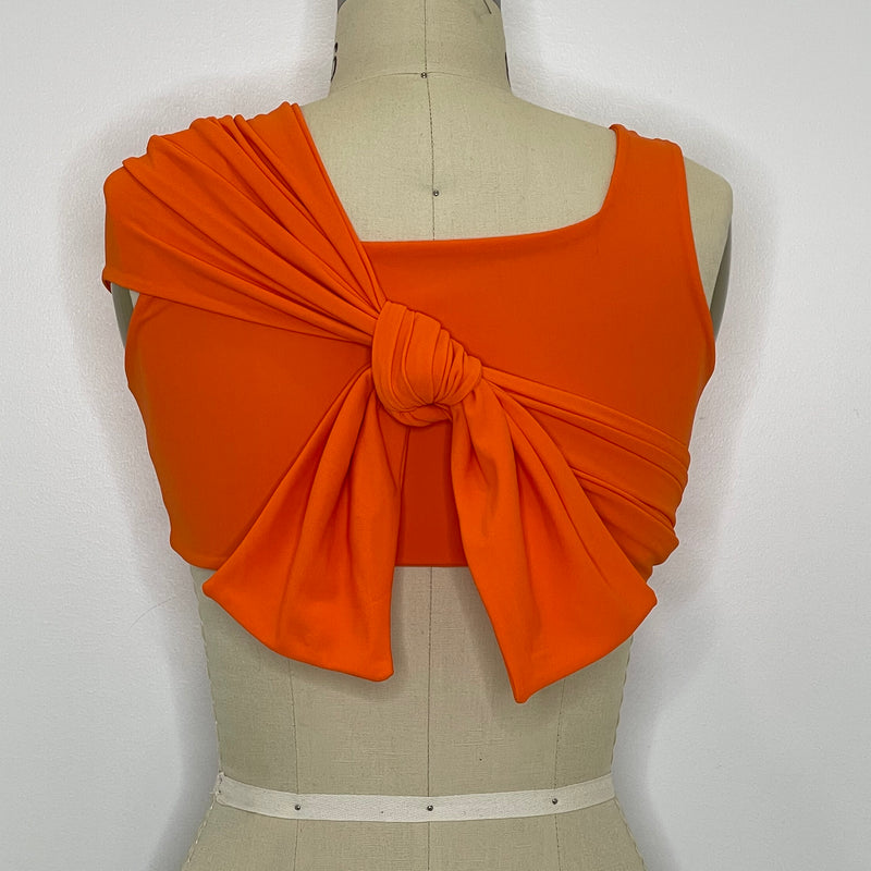 """SYNERGY"" Orange Wrap Top"