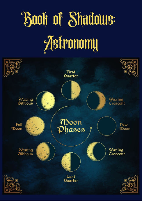 FREE PRINTABLE: Book of Shadows- Moon Phases