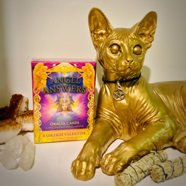 Angel Answers- Oracle Cards - Black Cat Coven Couture