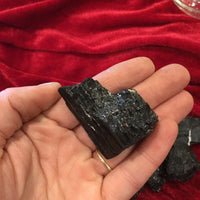 Black Tourmaline Crystal Chunks - Black Cat Coven Couture