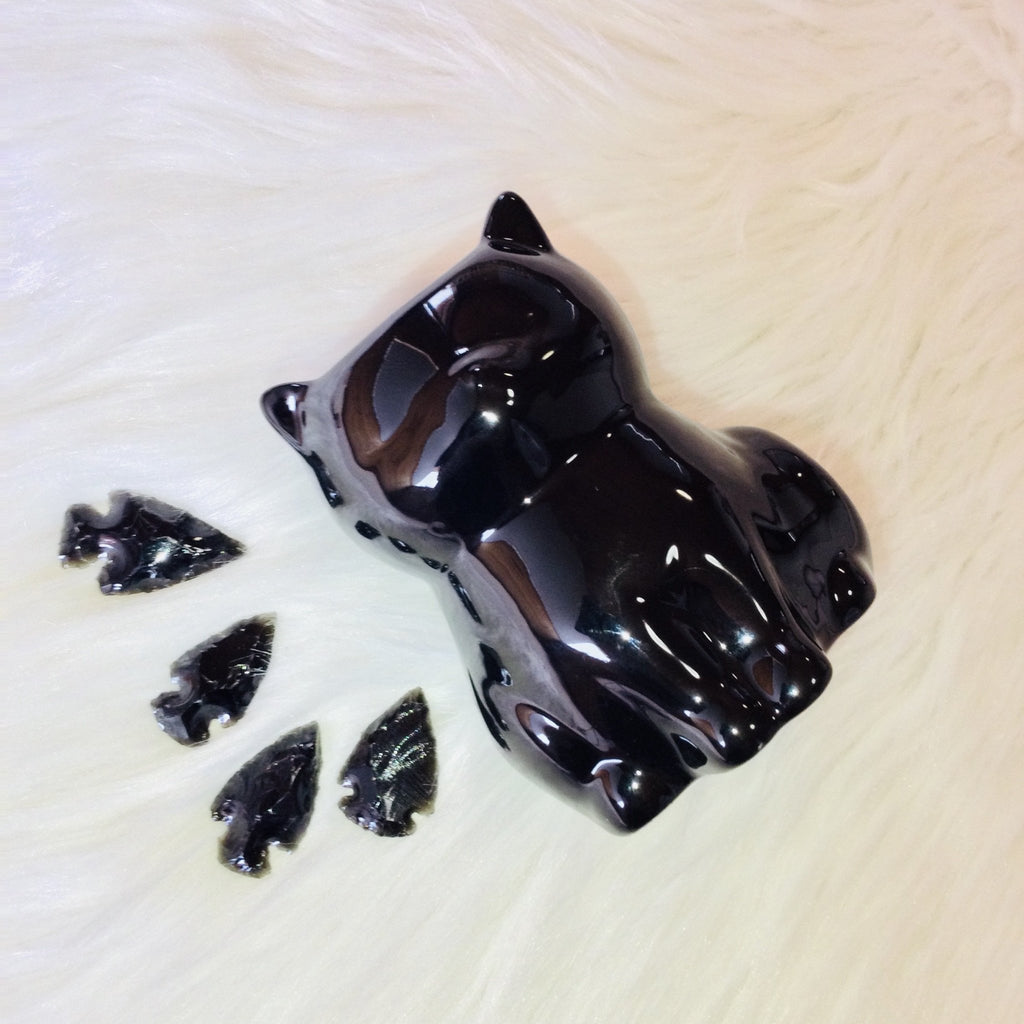 Black Witches Cat Oil Burner -Gift Set - Black Cat Coven Couture