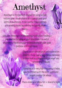 Book of Shadows- Amethyst Crystal Page - Black Cat Coven Couture