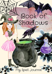 Book of Shadows Cover- Witchy Watercolours - Black Cat Coven Couture