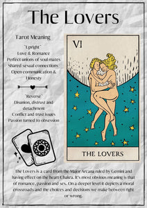 "Book of Shadows Printable: ""The Lovers"" - Black Cat Coven Couture"