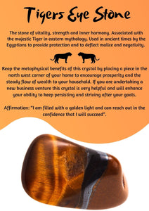 Book of Shadows Printable: Tigers Eye Stone - Black Cat Coven Couture
