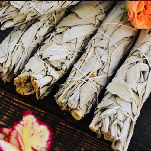 Californian Organic White Sage Smudge Stick - Black Cat Coven Couture