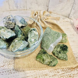 Diopside Crystal Raw Chunks - Black Cat Coven Couture