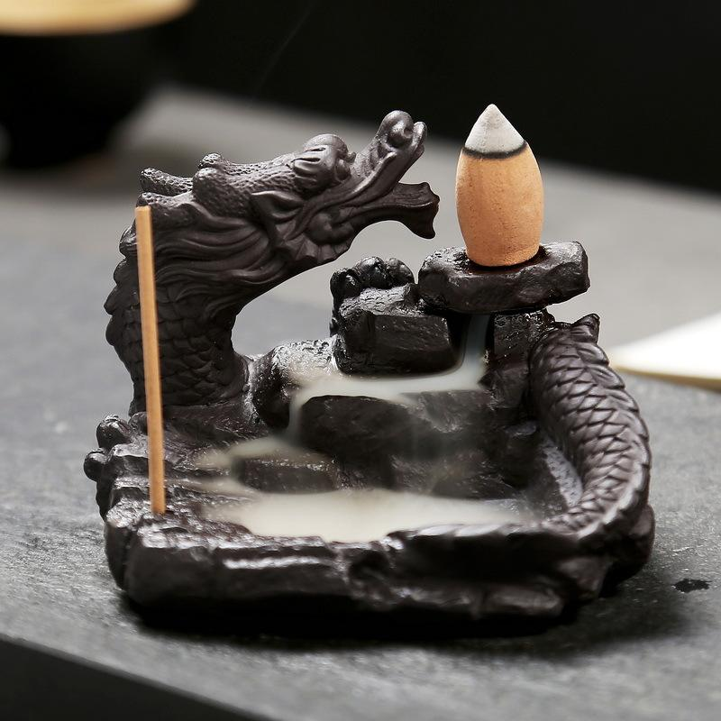 Dragon Backflow Incense Burner - Black Cat Coven Couture