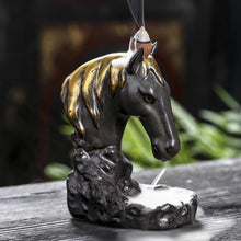 Load image into Gallery viewer, Enchanted Horse Backflow Incense Burner - Black Cat Coven Couture