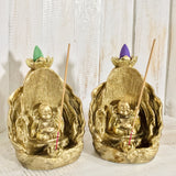 Golden Backflow Incense Burners - Black Cat Coven Couture